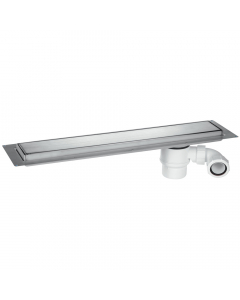 McAlpine Wet Room Channel Drain - 748mm - Standard - Brushed Metallic Finish