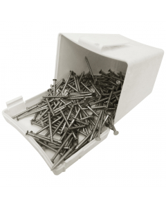Plastops PVC Cladding Pins - 30mm - White (200 Pack)
