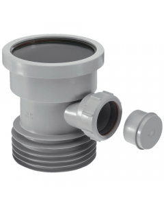 "McAlpine 4"" Drain Connector with 1 ½"" Universal Pipe Boss - Grey"