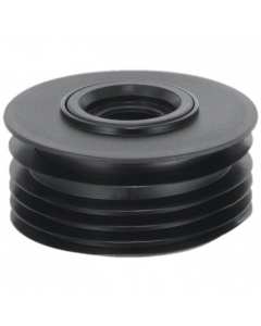 "McAlpine 4"" Drain to Waste Reducer - 1 ½"" and 1 ¼"" - Black"