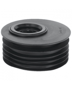 "McAlpine 4"" Drain to Waste Reducer - 1 ½"" and 1 ¼"" - Offset - Black"