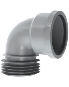 "McAlpine 4"" 90 Degree Drain Connector - Grey"