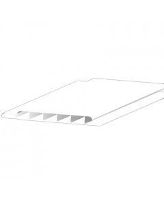Freefoam 100mm x 10mm Hollow Soffit Board - 5 Metre - White
