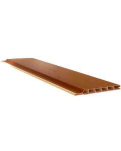 Freefoam 100mm x 10mm Hollow Soffit Board - 5 Metre - Woodgrain Light Oak