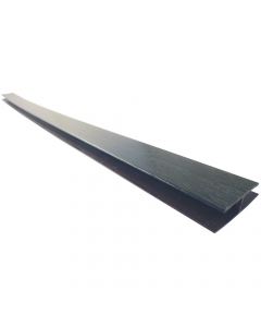 Freefoam Soffit H Joint Trim - 5 Metre - Woodgrain Anthracite Grey