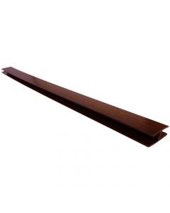 Freefoam Soffit H Joint Trim - 5 Metre - Woodgrain Mahogany