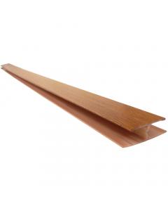 Freefoam Soffit H Joint Trim - 5 Metre - Woodgrain Light Oak