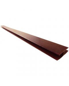 Freefoam Soffit H Joint Trim - 5 Metre - Woodgrain Rosewood
