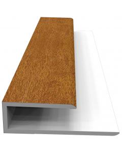 Freefoam Soffit J Starter Trim - 5 Metre - Woodgrain Light Oak