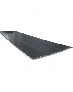 Freefoam 300mm x 10mm Hollow Soffit Board - 5 Metre - Woodgrain Anthracite Grey