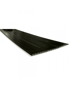 Freefoam 300mm x 10mm Hollow Soffit Board - 5 Metre - Woodgrain Black Ash