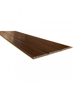 Freefoam 300mm x 10mm Hollow Soffit Board - 5 Metre - Woodgrain Mahogany