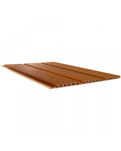 Freefoam 300mm x 10mm Hollow Soffit Board - 5 Metre - Woodgrain Light Oak