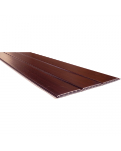Freefoam 300mm x 10mm Hollow Soffit Board - 5 Metre - Woodgrain Rosewood