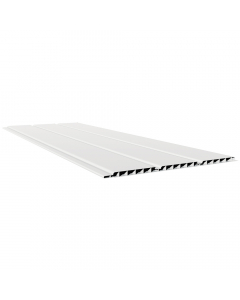Freefoam 300mm x 10mm Hollow Soffit Board - 5 metre - White