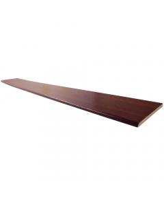 Freefoam 40mm x 6mm Plastic Architrave - 5 Metre - Woodgrain Rosewood
