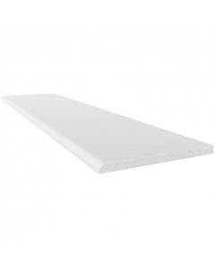 Freefoam 90mm x 6mm Plastic Architrave - 5 Metre - White