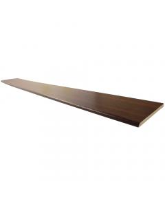 Freefoam 90mm x 6mm Plastic Architrave - 5 Metre - Woodgrain Mahogany