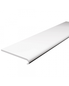 Freefoam 200mm x 10mm Plastic Bullnose Window Board - 2.5 Metre - White