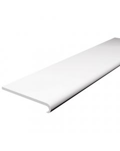 Freefoam 250mm x 10mm Plastic Bullnose Window Board - 5 metre - White