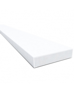 Freefoam 28mm Square Edge Window Batten Plastic Trim - 2.5 Metre