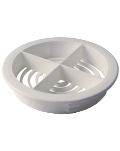 Freefoam Circular Soffit Vent - White