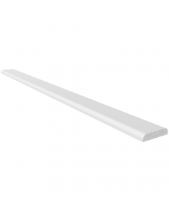 Freefoam 28mm D Section Window Plastic Trim - 2.5 Metre - White