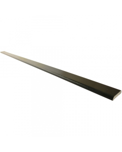 Freefoam 28mm D Section Window Plastic Trim - 5 Metre - Woodgrain Black Ash