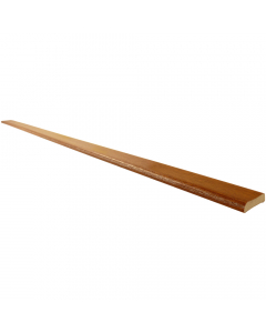 Freefoam 28mm D Section Window Plastic Trim - 5 Metre - Woodgrain Light Oak