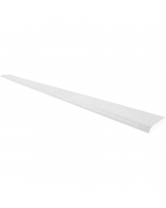 Freefoam 28mm D Section Window Plastic Trim - 5 Metre - Woodgrain White