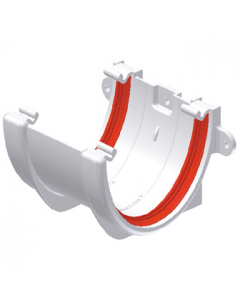 Freeflow 116mm Deep Flow Gutter Union Bracket - White