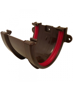 Freeflow 116mm Deep Flow Gutter Union Bracket - Brown