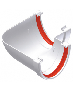 Freeflow 116mm Deep Flow 90 Degree Gutter Angle - White