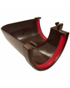 Freeflow 116mm Deep Flow 90 Degree Gutter Angle - Brown