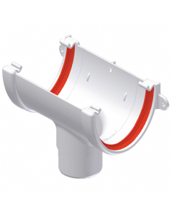 Freeflow 116mm Deep Flow Running Outlet - White