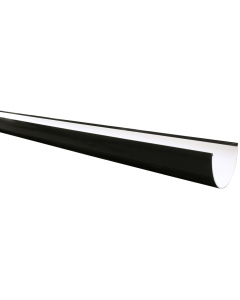 Freeflow 116mm Deep Flow Gutter - 4 Metre - Black