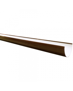 Freeflow 116mm Deep Flow Gutter - 4 Metre - Brown