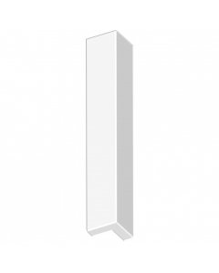 Freefoam Magnum Flat Fascia Board Double External Corner - 600mm - White