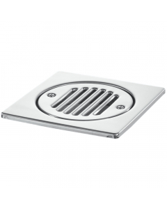 McAlpine 150mm Square Shower Gully Tile - Stainless Steel
