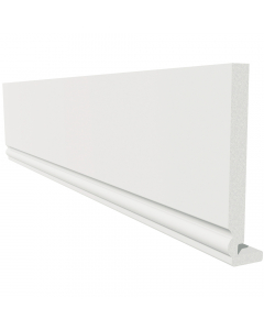 Freefoam 225mm x 18mm Magnum Ogee Fascia - 2.5 Metre - White