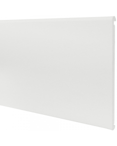 Freefoam 405mm x 18mm Bullnose Double Ended Fascia - 2.5 Metre - White
