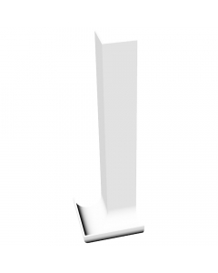 Freefoam Magnum Round Nose Fascia Board Internal Corner - 300mm - White