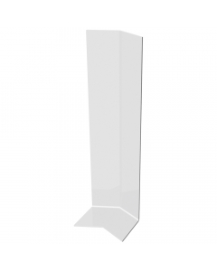 Freefoam Ogee Fascia Board 125 Degree External Corner - 300mm - White