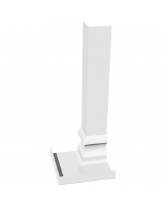 Freefoam Ogee Fascia Board Internal Corner - 300mm - White