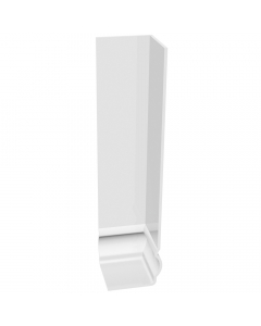 Freefoam Ogee Fascia Board External Double Corner - 600mm - White