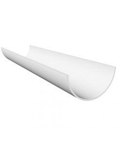 Freeflow 112mm Half Round Gutter - 2 Metre - White