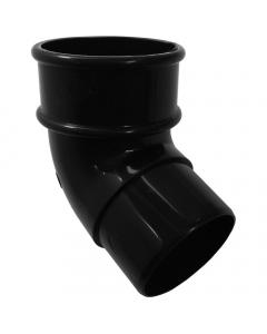 Freeflow 68mm Round Down Pipe 112 Degree Offset Bend - Black