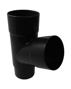 Freeflow 68mm Round Down Pipe 112 Degree Branch - Black