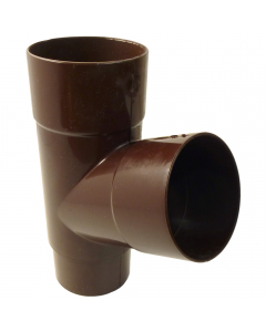 Freeflow 68mm Round Down Pipe 112 Degree Branch - Brown
