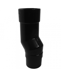 Freeflow 68mm Round Down Pipe Mini Offset - Black